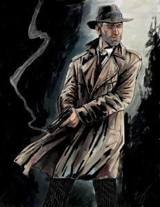 Detective Dak with pistol